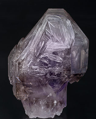 Sceptered Quartz (variety smoky  and amethyst). Front
