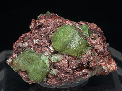 Smithsonite (variety cuprian) with Dolomite. Front