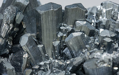 Stibnite with Calcite.