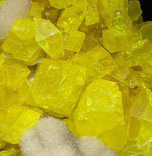 Sulfur with Calcite.