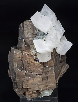 Pyrrhotite with Calcite and Quartz. Front