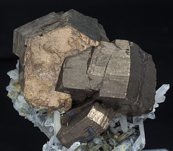 Pyrrhotite with Quartz and Sphalerite.