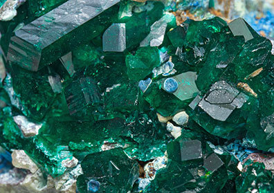 Dioptase with Plancheite.