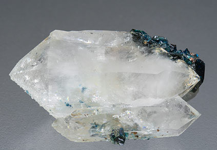 Doubly terminated Quartz with Lazulite. Side