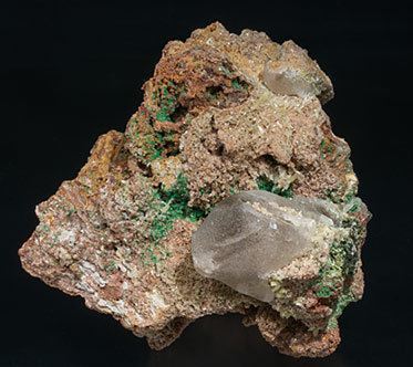 Cerussite with Mimetite and Malachite.