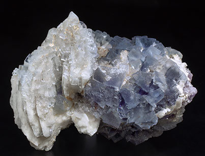 Fluorite with Baryte and Quartz.