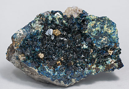 Lazulite with Fluorapatite and Siderite.