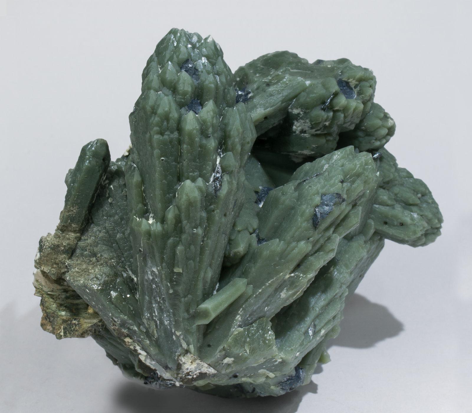 Quartz (variety prase) with Hematite and Quartz ...
