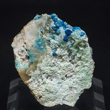 Boleite with Paratacamite and Gypsum.
