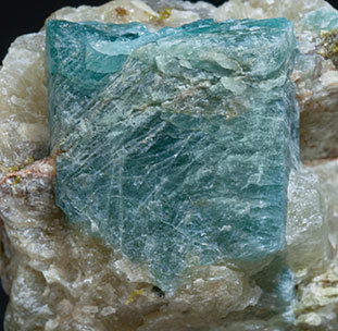 Grandidierite with Quartz and Mica.