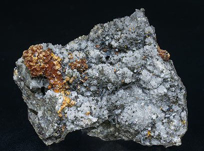 Hutchinsonite with Orpiment and Quartz.