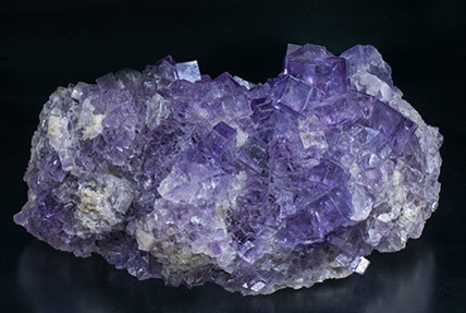 Fluorite with Quartz. Rear