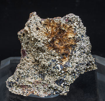 Yuanfuliite with Hematite and Calcite.