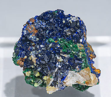 Miersite with Azurite and Cerussite.