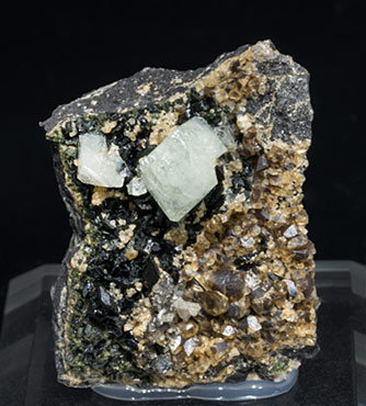 Wardite with Siderite, Lazulite and Quartz.