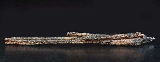 Metastibnite with Stibnite. Rear
