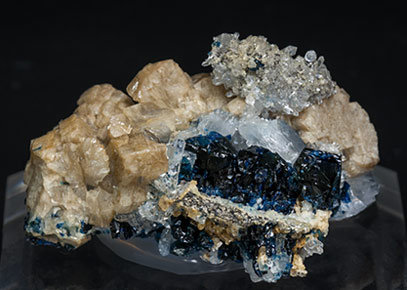Whiteite-(CaFeMg) with Lazulite and Quartz. Rear