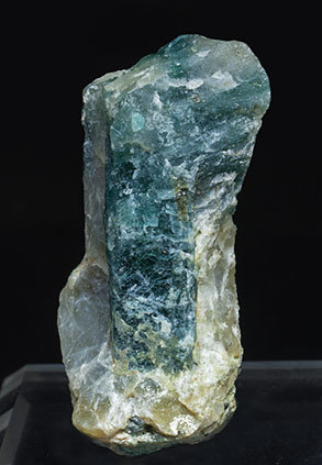 Grandidierite with Quartz and Feldspar. Front