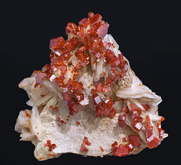 Vanadinite with Baryte.