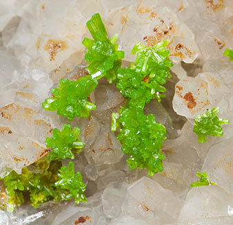 Pyromorphite with Quartz.