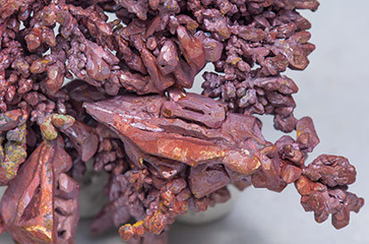 Copper with Cuprite.