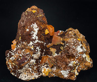Wulfenite with Willemite and limonite.