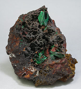Malachite with Goethite.