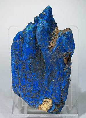Chalcostibite with Azurite. Front