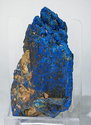 Chalcostibite with Azurite. Rear