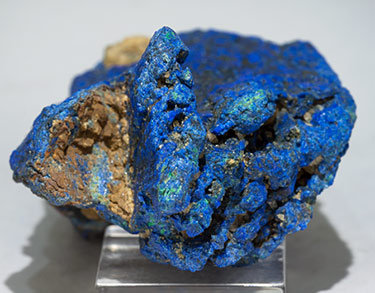 Chalcostibite with Azurite. Top