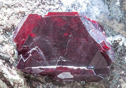 Cuprite with Plancheite. Front light