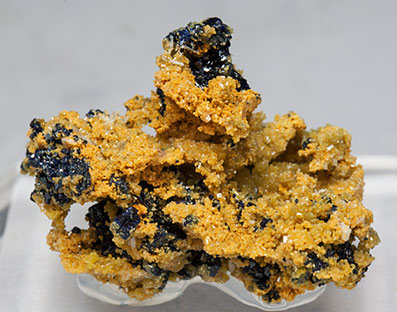 Mimetite with Azurite and Wulfenite.