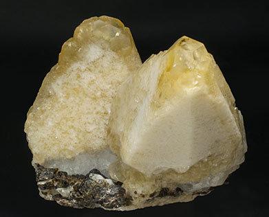 Calcite with Sphalerite. Rear