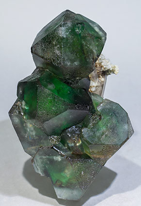 Fluorite with Quartz (variety smoky). Front
