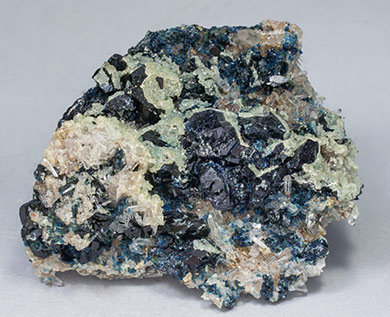 Lazulite with Augelite, Quartz and Siderite.