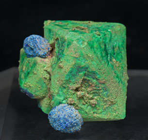 Malachite after Cuprite and Azurite. Top