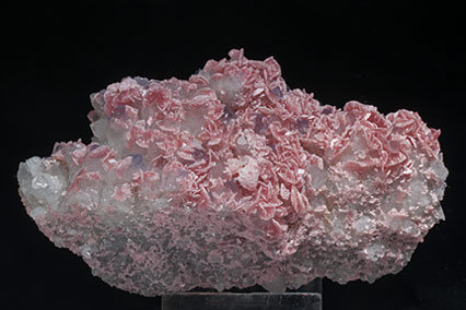 Rhodochrosite with Fluorite and Quartz. Rear