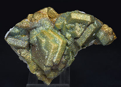 Calcite with Pyrite.