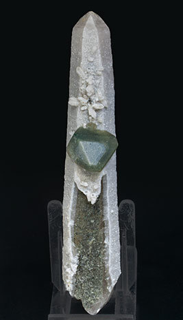 Octahedral Fluorite with Quartz and Chlorite.
