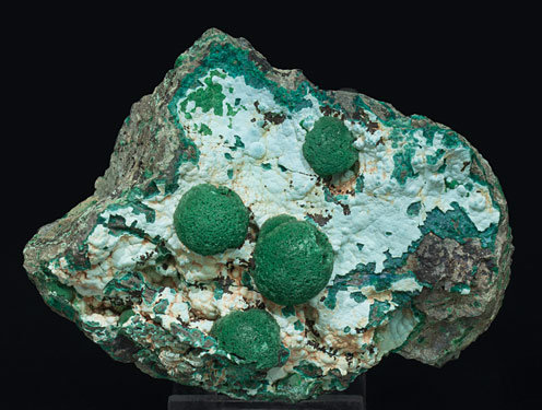Malachite with Chrysocolla.