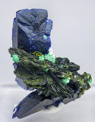 Volborthite with Azurite and Malachite. Front