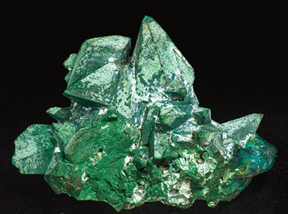Malachite after Dioptase after Calcite.