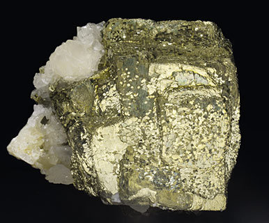 Pyrite with Calcite. Side