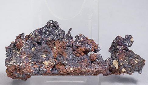 Cuprite with Copper. Rear