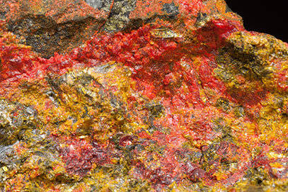 Getchellite with Realgar and Orpiment.