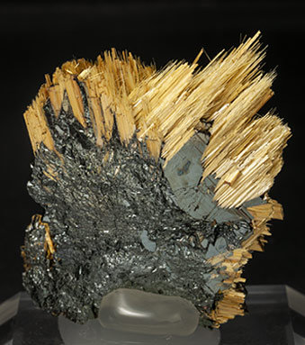 Rutile with Hematite. Rear