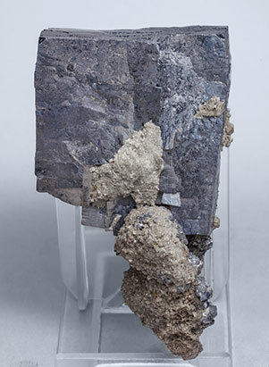 Galena with Dolomite and Chalcopyrite. Front