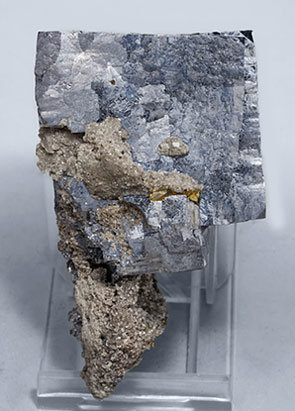 Galena with Dolomite and Chalcopyrite. Rear