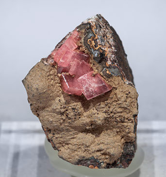 Rhodochrosite with Gageite.
