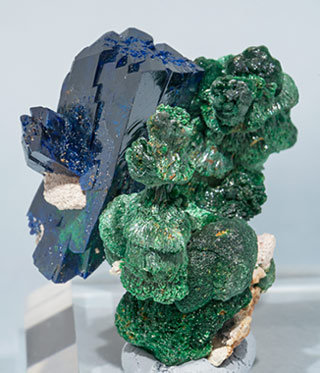 Azurite with Malachite. Side
